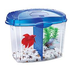 Aqueon Betta Fish Tank Starter Kit, Half Gallon, Blue