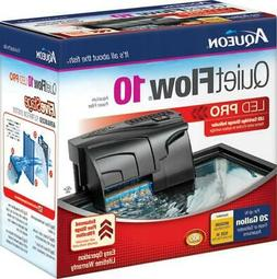 Aqueon QuietFlow LED PRO Aquarium Power Filters, Size 10-100