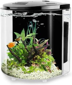 1.4 Gallon Betta Aquarium Starter Kits Fish Tank with LED Li