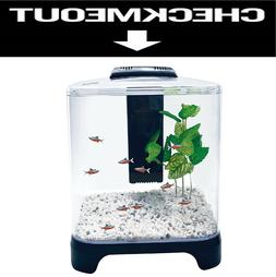 1.5 Galon Fish Tank With Filter And LED Light Small Desktop