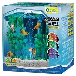 1-Gallon, Hexagon Aquarium Kit with Led Bubbler