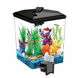 Koller Products 1-Gallon Betta Aquarium Kit,LED Light,Power