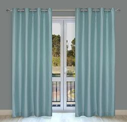 LJ Home Fashions 1 Silkana Faux Silk Grommet Curtain Panels