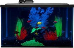 Glofish 10 Gallon Aquarium Fish Tank Kit with LED, Filter, H