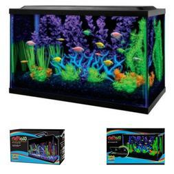 10-Gallon Aquarium Kit with Filter Conditioner & Fish Food T