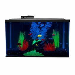 10-Gallon GloFish Aquarium Set, LED Lighting, Water Filter,