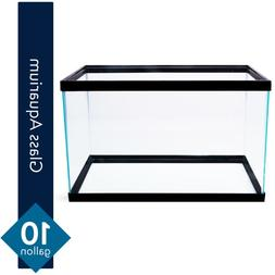 10 Gallon Fish Tank Aquarium Clear Glass Terrarium Pet Repti