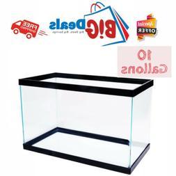 10 Gallon Fish Tank Aquarium Clear Glass Terrarium Pet AquaC