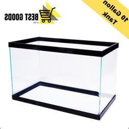10 Gallon Fish Tank Aquarium Terrarium Pet Aqua Reptiles Gol