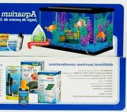 10 Gallon Fish Tank With Lid Led Light Aqua Culture Filter A