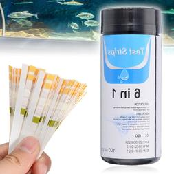 100 X6 IN 1 Test Strips PH KH GH Nitrate Nitrite  Fish Tank