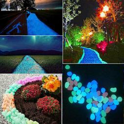 100pcs Glow in The Dark Stones FISH TANK AQUARIUM Pebbles Ro