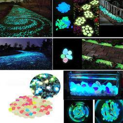 100pcs waterproof glow in the dark stone