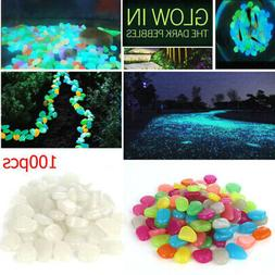 100x Glow In The Dark Stones Fish Tanks Aquarium Pebbles Roc