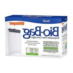 12-Pack Tetra Filter Whisper Bio-Bag Cartridge Medium Aquari