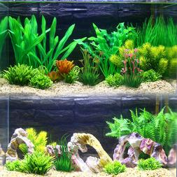 13cm fish tank plastic plants fake water