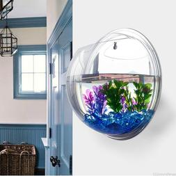 15*15cm Wall Mount Hanging Fish Bowl Aquarium Acrylic Tank P