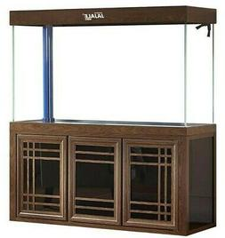 175 Gallon Glass Fish Tank Aquarium with LED Light and Stand