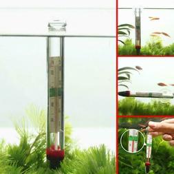 1PC Glass Thermometer Aquarium Fish Tank Water Temperature M