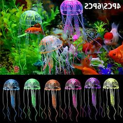 6PCS Jellyfish Aquarium Decoration Artificial Glowing Effect