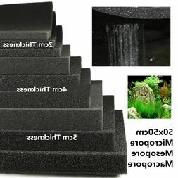 2/4/5cm 50x50 Biological Cotton Filter Foam Pond Aquarium Fi
