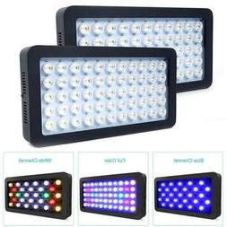 2 Pack 165W LED Aquarium Light Dimmable Full Spectrum Coral