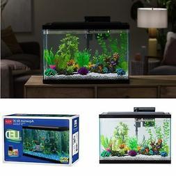 20 Gallon Aquarium Starter Kit LED Light Complete Fish Tank