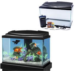20-Gallon Fish Aquarium Tank LED Kit Starter Pack Goldfish C