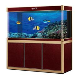 135 Gallon Glass Fish Tank Aquarium with LED Light and Stand