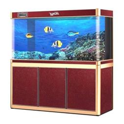 200 Gallon Fish Tank Aquarium with LED Light and Stand Bundl