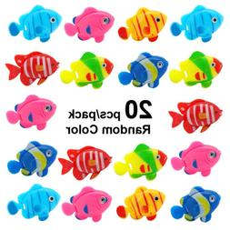 20pcs Aquarium Fake Fish Floating Artificial Vivid Landscape