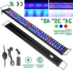 """24"""" 35"""" 48"""" Full Spectrum Aquarium LED Light Freshwater Fish"""