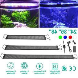 """24"""" 35"""" 48"""" LED Aquarium Light Full Spectrum Freshwater Fish"""