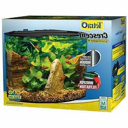 Tetra Crescent Acrylic Aquarium Kit, Energy Efficient LEDs,