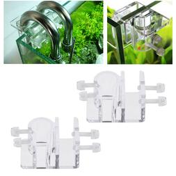 2Pc Pipe Clip Acrylic Fixed Durable Premium Water Tube Clamp