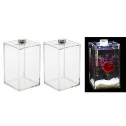 2pcs Acrylic Clear Aquarium Tropical Sea Aquatic Rumble Fish