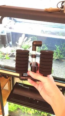 2x Dual Sponge Filters Shrimp Tanks & Fish Fry Breeding Aqua