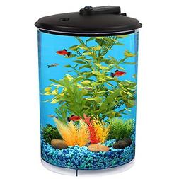 3-Gallon 360 View Aquarium Kit with LED Lighting and Filtrat