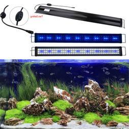 "36""-48"" Aquarium Hood Lighting Blue and White LED Fish Tank"