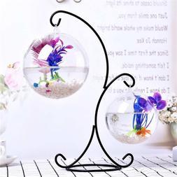 3Size Simple Desktop Hanging Glass <font><b>Fish</b></font>