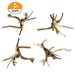 4 PCS Driftwood for Aquarium Wood Natural Trunk Reptile Drif