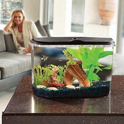 5 Gallon Aquarium Fish Tank Starter Kit with LED Lighting an