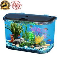 5 Gallon Aquarium with Led Lighting Filter Kids Complete Fis