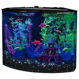 5 Gallon Curved Aquarium Kit 15 Blue LED Light Fish Water Ta
