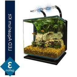 5 Gallon Fish Tank - Easy Glass Aquarium Kit w/ Hidden Filte