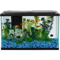 5 Gallon Fresh Water Glass Fish Tank Aquarium Starter Kit wi