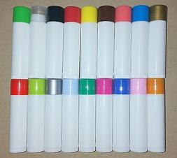 50 Empty WHITE or CLEAR Chapstick lip balm tubes W/ 18 DIFFE