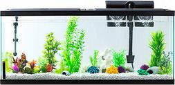 55 Gallon Aquarium Fish Tank Full Starter Kit LED Lights Fil