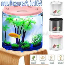 5L Half Moon Fish Tank Mini Aquarium Acrylic Capacity 180°