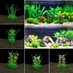 5pcs artificial plastic water grass plants fish